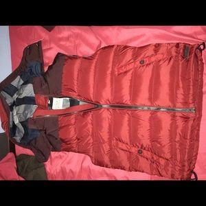 Mens Burberry vest with detachable hood